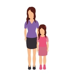 Mother with daughter character vector