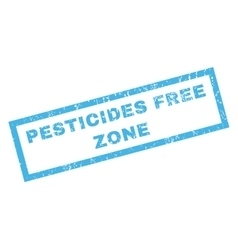 Pesticides Free Zone Rubber Stamp vector