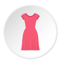 Pink dress icon circle vector