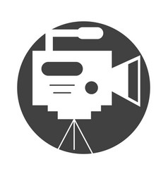 Professional recording camera vector
