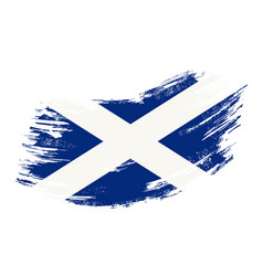 Scottish flag grunge brush background vector