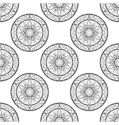 Seamless floral pattern Black and white Coloring vector
