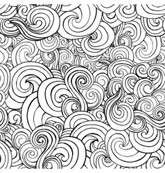 Seamless pattern with black and white stylized vector