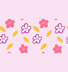 Seamless pattern with hand drawn flower vector