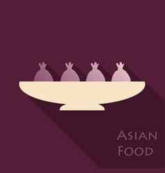 Set of asian food bibimbap gedza ramen and sushi vector