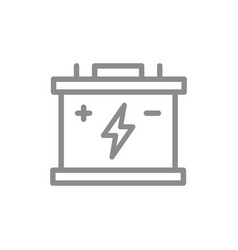 simple car battery accumulator line icon symbol vector image