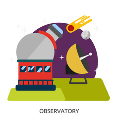 Space observatory image vector