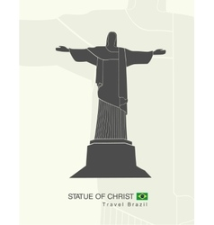 Statue of Christ in Rio de Janeiro vector image