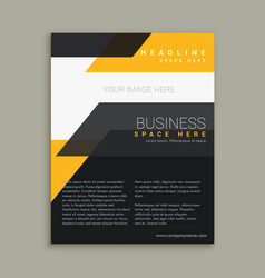 stylish business flyer brochure design vector image