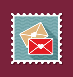 two envelope stamp love letter vector image