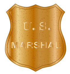 United states marshal shield badge vector