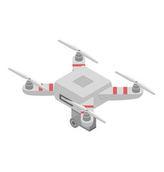 Videography drone icon isometric style vector