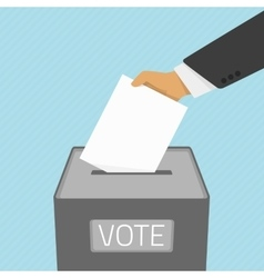 voting paper in ballot box vector image