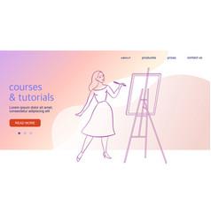 web site design horizontal banner creative vector image