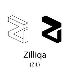 zilliqa black silhouette vector image