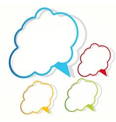 empty cloud frame sticker vector image vector image
