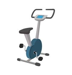 Exercise bike cartoon icon vector image vector image