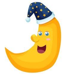 Happy Moon vector image