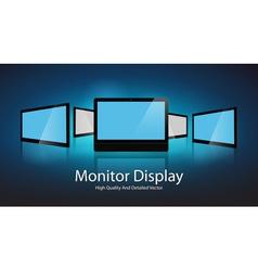 Monitor Display Design vector image