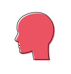 pictogram head vector image