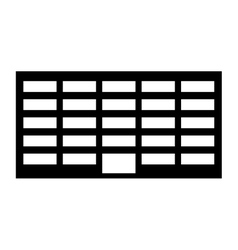 silhouette city office building line sticker vector image vector image