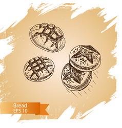 sketch - bakery bread loaf vector image vector image