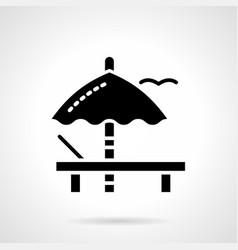 sunbathing glyph style icon vector image