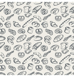 background with bread vector image
