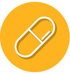pill within a circle line icon vector image