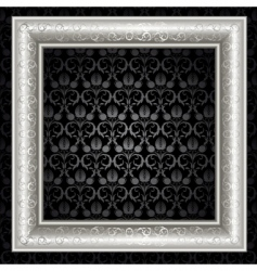 silver frame vector image vector image