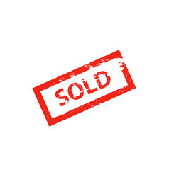 sold red stamp on whit vector image