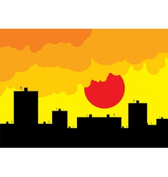 sunset living vector image