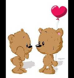 valentine bear couple vector image