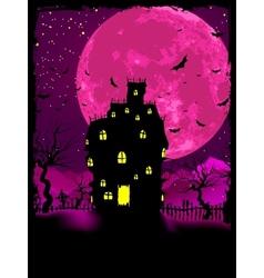 Halloween mansion background vector