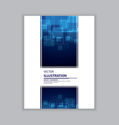 abstract blue and white cover vector image