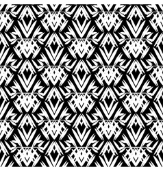 art deco black and white pattern vector image