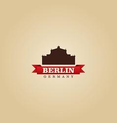 Berlin Germany city symbol vector image