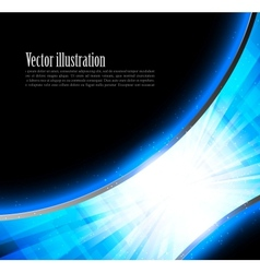 Bright blue tech backround vector image vector image