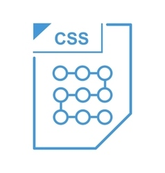 CSS file icon cartoon style vector image vector image