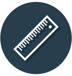ruler in circle line icon vector image