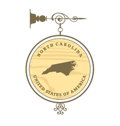 Vintage label North Carolina vector image vector image