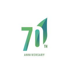 70 th anniversary logo template design vector