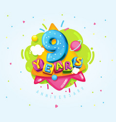 9 years vector image