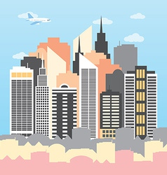 a city on a sunny day vector image