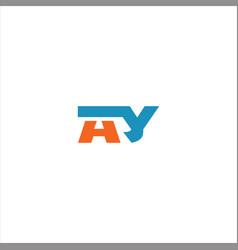 A y letter logo design on black color background vector