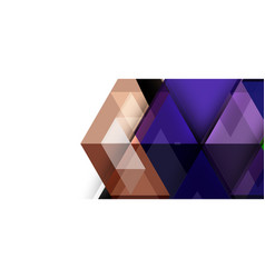 abstract triangle pattern colorful backdrop vector image