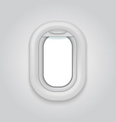 aircraft window airplane realictic open vector image