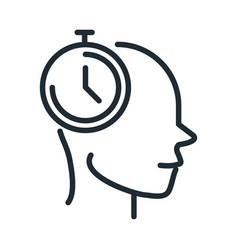 Alzheimers disease neurological brain time line vector