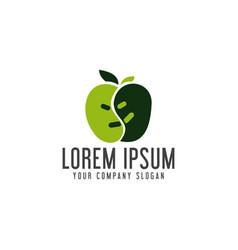 apple logo design concept template vector image