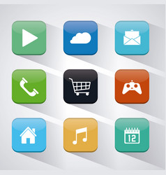 Apps and frames icon set vector